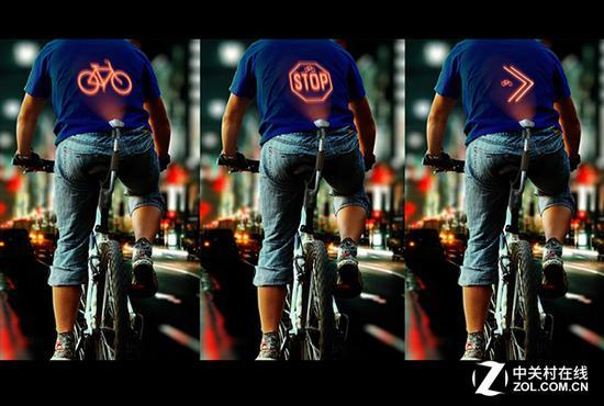 能投影的单车提供给了用户一个安全的使用方式