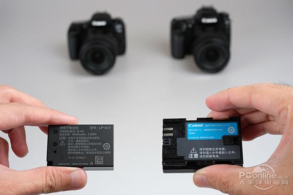 ▲77D电池(左)和80D电池(右)