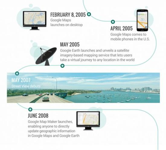 2005年2月8日,Google地图正式发布。