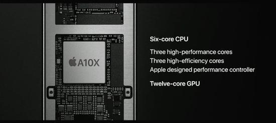 全新iPadPro采用了A10X处理器