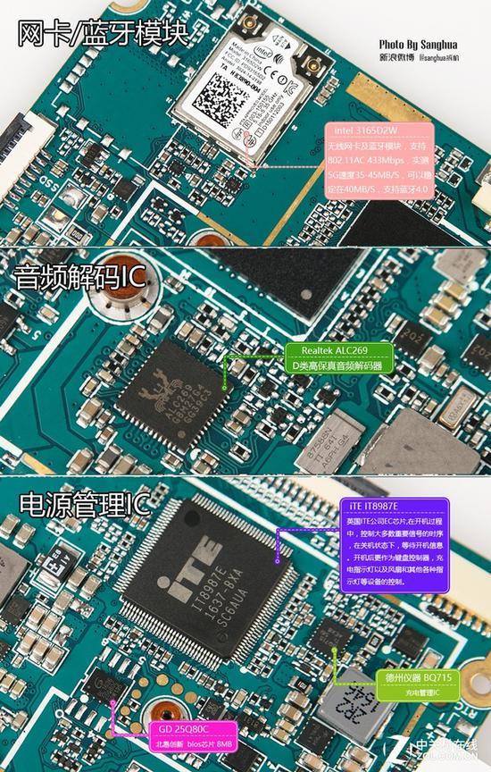 音频部分使用的是瑞昱ALC269高保真音频解码芯片,应芯片内置一个D类运放,因此小马31并没有配置独立的功放来增加推力。使用intel 3165模块支持2.4G及5G双频及蓝牙4.2,实际可以稳定在40MB/S,速度表现不错。   评测总结   昂达小马31笔记本电脑,采用全金属机身并融入双CNC亮边,让人眼前一亮,在同类位产品中是唯一一款支持指纹识别的笔记本,解锁速度快,看给人更为高档的感觉。而全金属机身除了提升颜值之外,更重要的是实实在在地增加了笔记本的结构强度,提升了散热效果。   其次,小马3