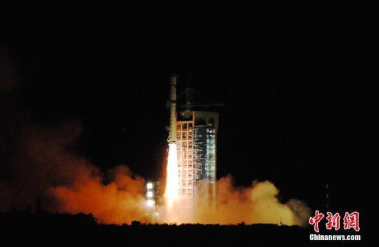 资料图:中国发射量子卫星。中新社记者 梁晓辉 摄