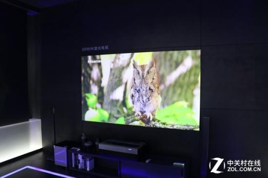 激光电视画面亮度更高