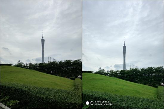 左HTC U11;右小米6