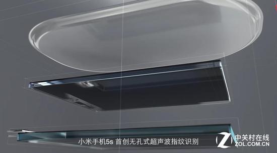 小米5s無孔式超聲波指紋識別