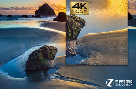 4K分辨率能够带来前所未有的视觉冲击,画面细腻程度和清晰度远远超过全高清