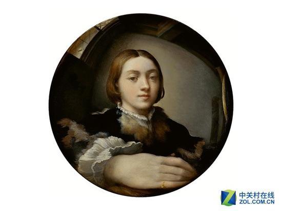 """画家Parmiianino在1524年完成的这张自画像,可以说是历史上的第一张""""自拍""""作品"""