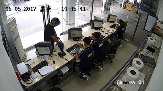 涉事门店结构。视频截图