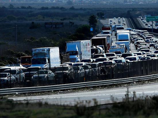 圣地亚哥的拥堵交通