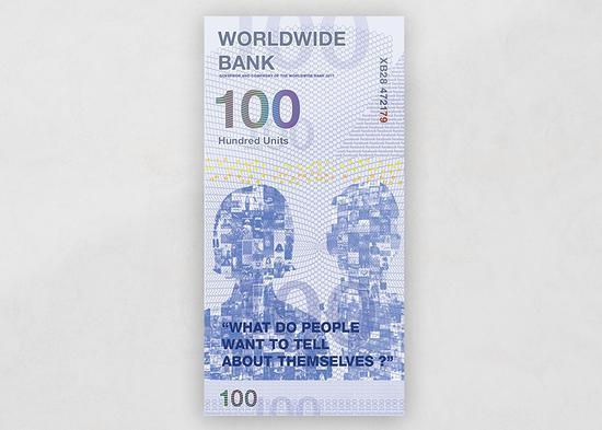 """竖版的""""小扎100美元"""""""