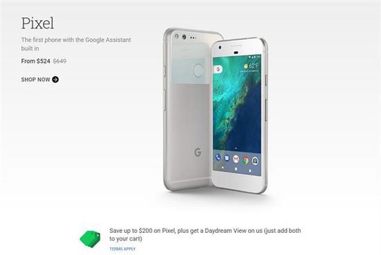 谷歌Pixel/Pixel XL大降价:最高降幅达200美元