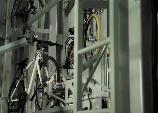 日本Eco-Cycle自行车地下自动停车场具有抗震设施