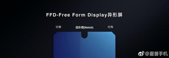 夏普FDD-FreeFormDisplay形状(图片引自夏普官微)