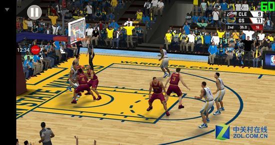 默认画质下的《NBA2K17》