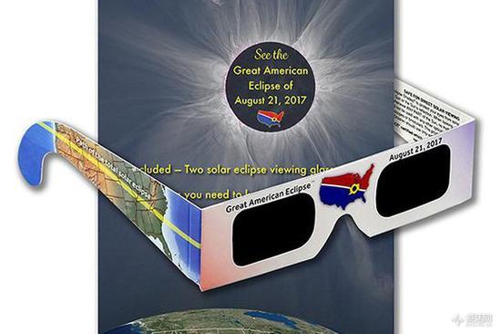 """为""""Great American Eclipse""""准备的一次性日食眼镜"""