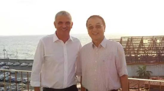 柳传志和以色列财政部长摩西卡隆