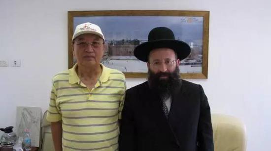 柳传志和犹太教拉比希姆尔