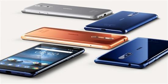 但从工业设计上看,Nokia 8延续的依然是此前Nokia 5/6的风格,正面指纹、常规的屏占比。