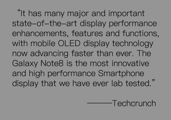 Techcrunch:实验室测试后评判它的屏幕为优秀