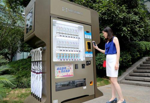 共享信用服务亭现身杭州街头凭借信用便可买借东西
