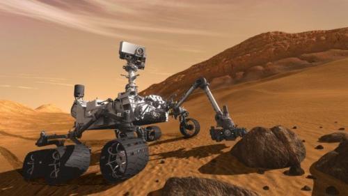 """火星探测车""""好奇号""""。(图片来源:NASA)"""