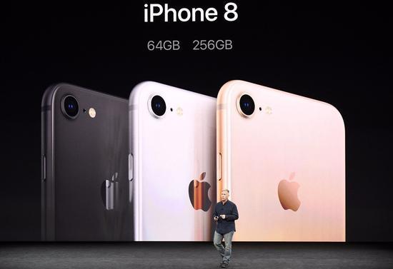 iPhone8 的創新力度並未讓消費者滿意,發布后蘋果股價下跌。@視覺中國