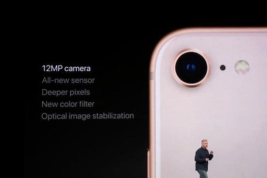 iPhone X/8系列的摄像头采用了新传感器