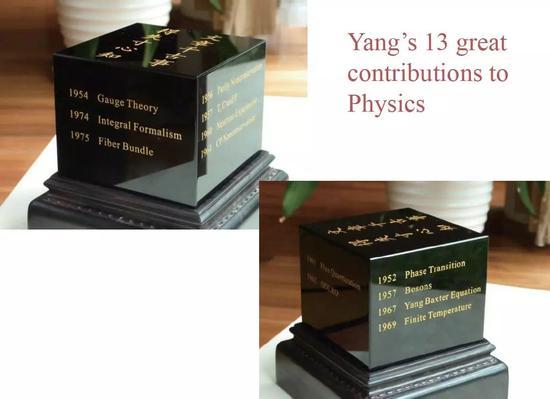 图3 清华大学赠送杨振宁先生的90 岁生日礼物
