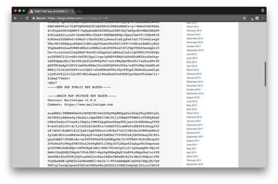 Adobe员工手残:居然把安全密钥公布在了官网