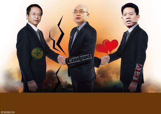 周鸿祎、郭德英、贾跃亭的三国杀。@视觉中国
