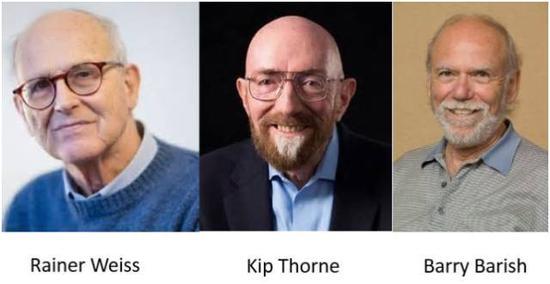 2017年诺贝尔物理学奖授予雷纳·韦斯(Rainer Weiss)教授,基普·索恩(Kip Stephen Thorne)教授以及巴里·巴里什(Barry Clark Barish)教授。