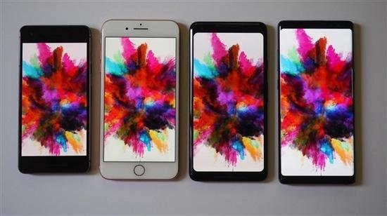 谷歌苹果三星屏幕显示对比 Note 8惊艳