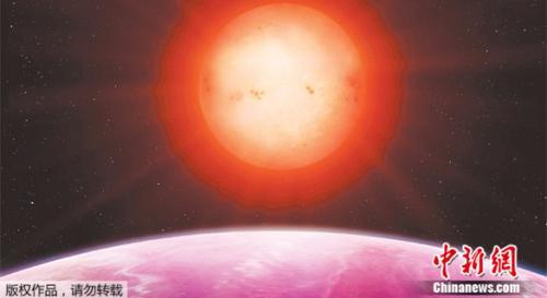 """天文学家发现一颗""""巨型行星""""NGTS-1b绕着一颗遥远而微弱的矮星做轨道运动,让他们惊讶不已。"""