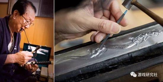 刀匠们在为EVA刀展赶制作品