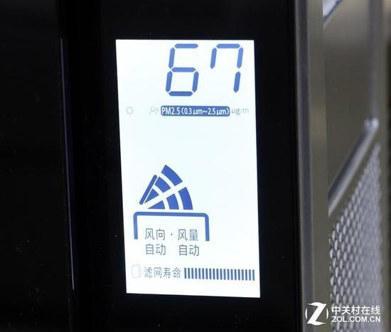 松下F-PXP155C空气净化器数字显示面板