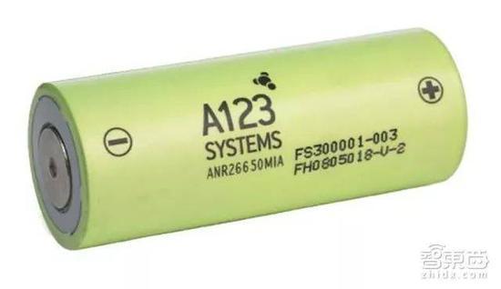 A123生产的电芯