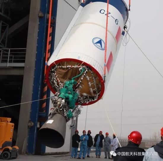 长征六号遥二火箭发射升空 液氧煤油发动机表现完美