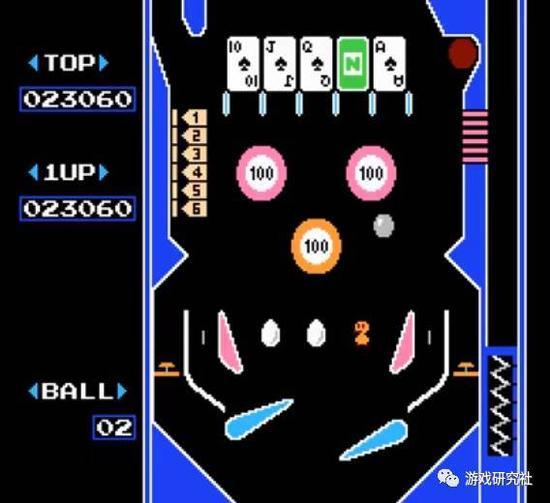红白机游戏《Pinball》