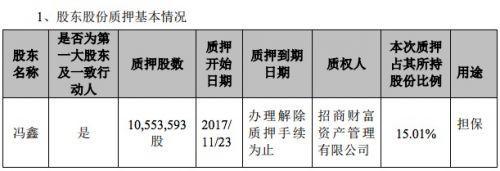 冯鑫累计质押暴风5976万股股票 占其所持股份的84%