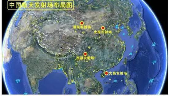 中国的四大发射场地址(来自:中华网)
