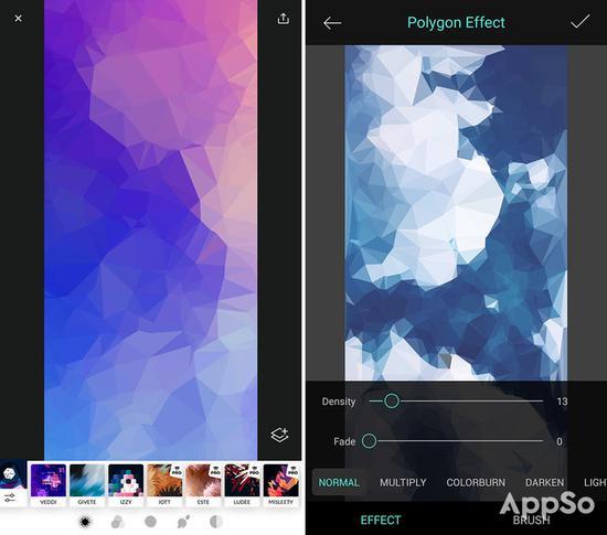 ▲ 左《Trigraphy》,右《Polygon Effect》