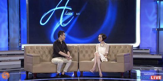 孙宇晨接受陈鲁豫采访。