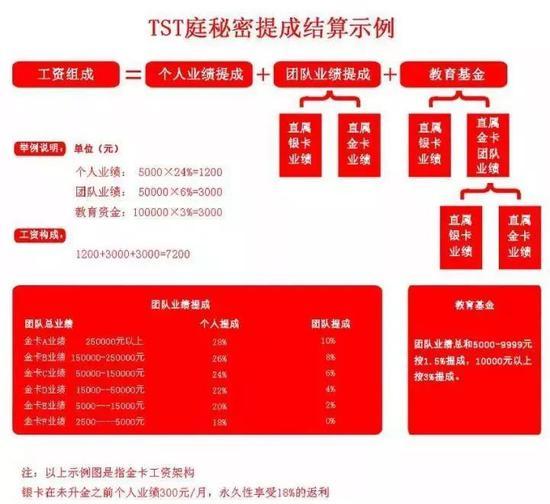 图为TST销售提成构成和分级