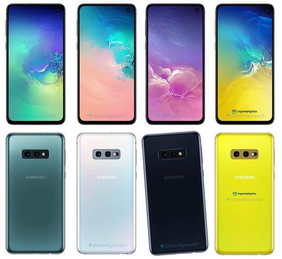 Galaxy S10E 擁有 4 種配色,包括灰綠色、珍珠白、黑色以及金絲雀黃。