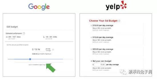 Google上可以导出和下载数据做分析,而Yelp不能。