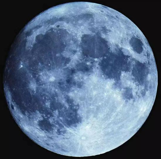 蓝色的月亮,图自网络
