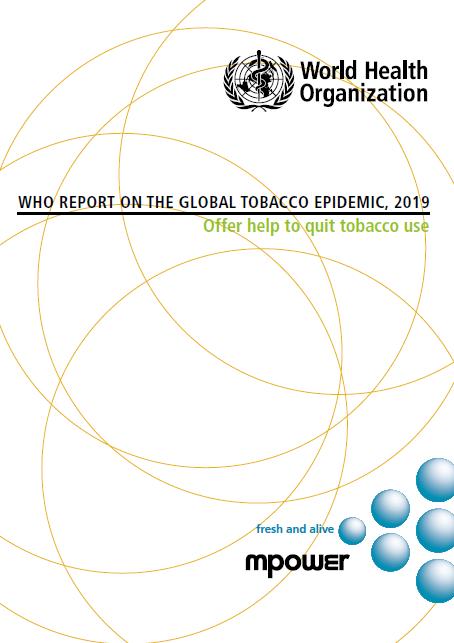 《2019世卫组织全球烟草流行报告》。网页截图