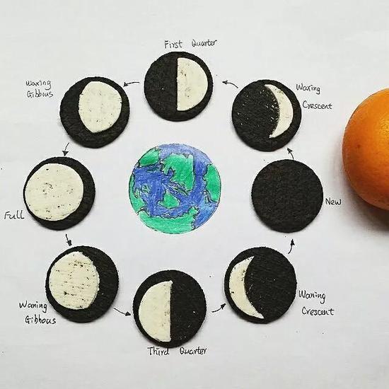 月相变化周期,图自网络