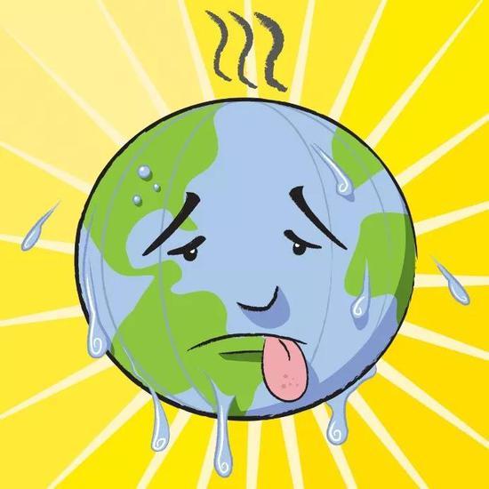 图2 全球气候变暖(图片来自网络)