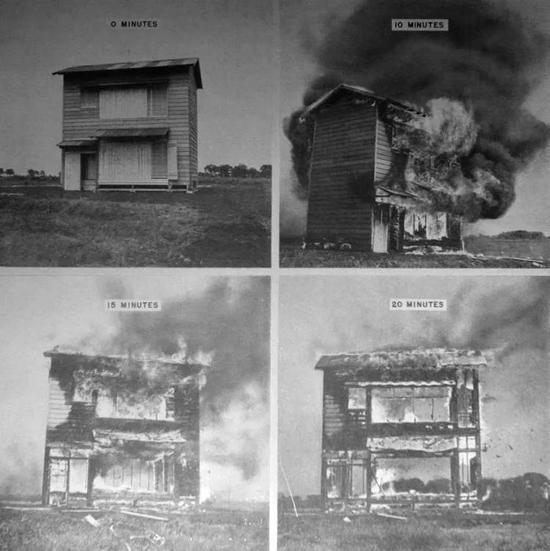 美军记录的德日小镇燃烧数据图片来源:national defense research committee